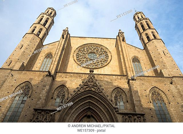 Gothic church of Santa Maria del Mar, La Ribera, Barcelona, Catalonia, Spain, Europe