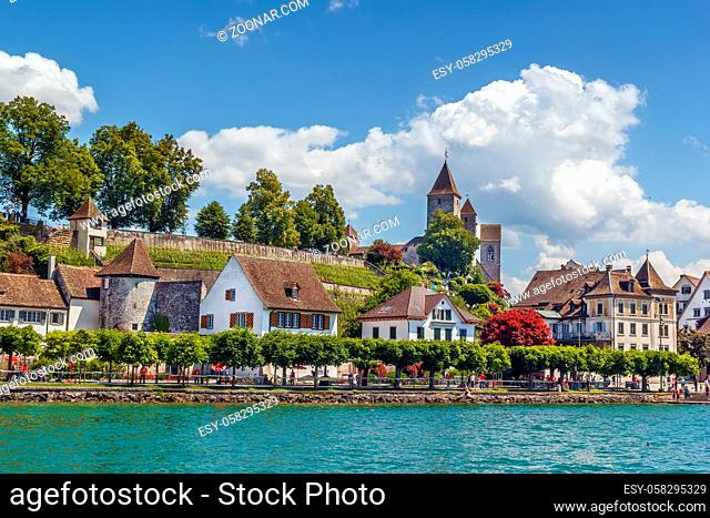 View of Rapperswil from Surich lake, Switzerland