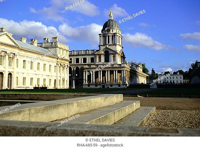 Royal Naval College, Greenwich, UNESCO World Heritage Site, London, England, UK, Europe