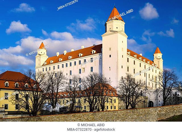 Castle of Bratislava on a sunny day, Slovakia