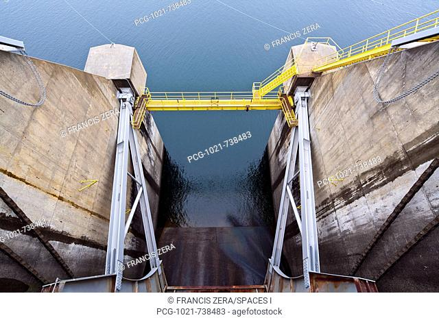 Closed Dam Floodgate