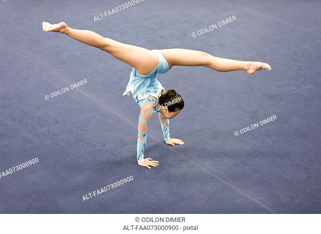 Gymnast floor routine Stock Photos and