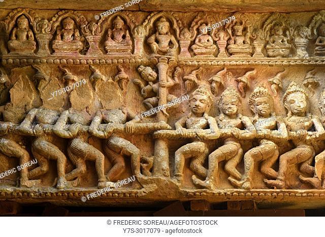 Ek Phnom Angkorian temple, Battambang, Cambodia, South East Asia, Asia