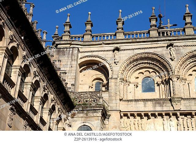 Platerias square Santiago de Compostela Galicia Spain