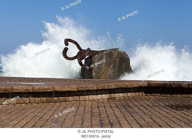 Peine del viento (The Comb of the Winds ) Eduardo chillida sculpture. Donostia. san Sebastian. Basque Country. Spain