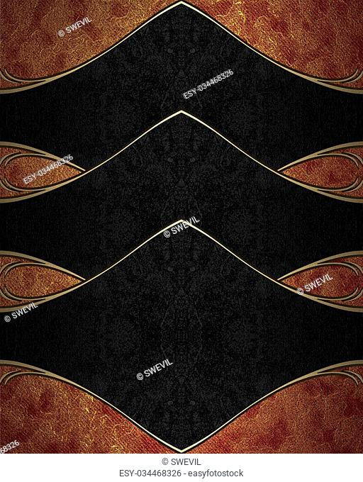 Red gold background with black accents. Template for design. copy space for ad brochure or announcement invitation, abstract background