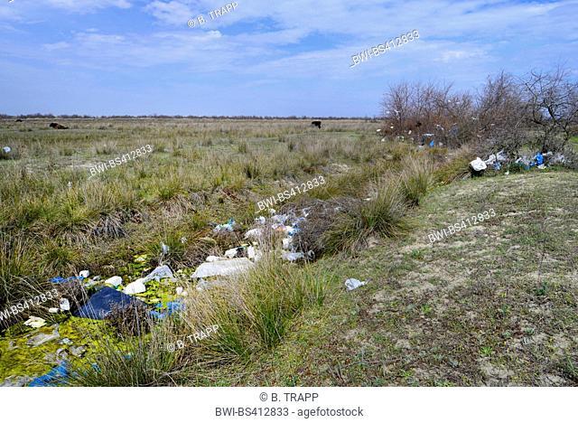 environmental pollution at the Danube delta, Romania, Dobrudscha, Biosphaerenreservat Donaudelta, SfÔntu Gheorgh