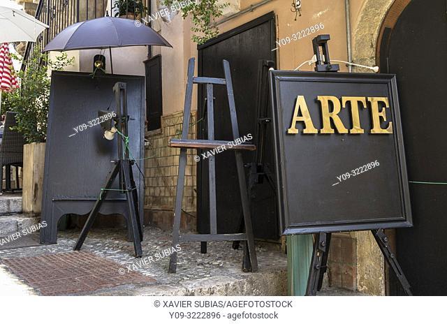 Art picture, Taormina, Sicily, Italy