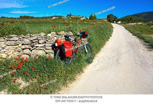 Camino de santiago in bicycle Saint James Way of Levante