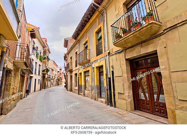 Typical Architecture, Street Scene, Santo Domingo de la Calzada, Camino de Santiago, St. James Way, Road to Santiago, La Rioja, Spain, Europe