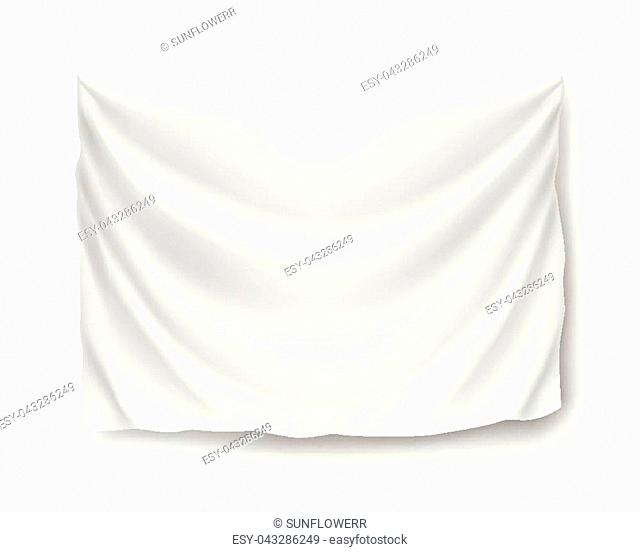 Wide horizontal standard, banner, streamer, mockup, isolated. Outdoors information ridgepole for inscriptions, slogans, mottos and so on