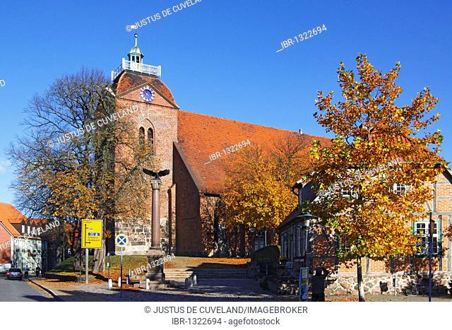 Historic church, St. Lawrence's Church in Schoenberg, Northwest Mecklenburg district, Mecklenburg-Western Pomerania, Germany, Europe