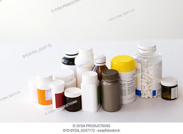 jars of different medicines