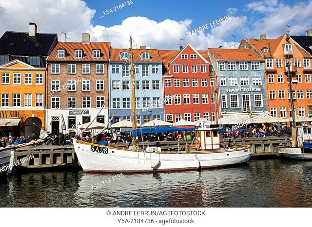 Nyhavn - New Harbour, is a canal constructed in the 18th century in Copenhagen. It is lined with colourful buildings that house many popular cafes and bars
