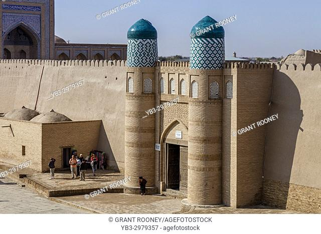 The Entrance To The Kunya Ark Fortress, Khiva, Uzbekistan