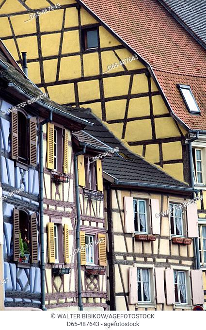 Half Timbered Houses of 'Petite Venise' (Little Venice) Area. Colmar. Alsace (Haut Rhin). France