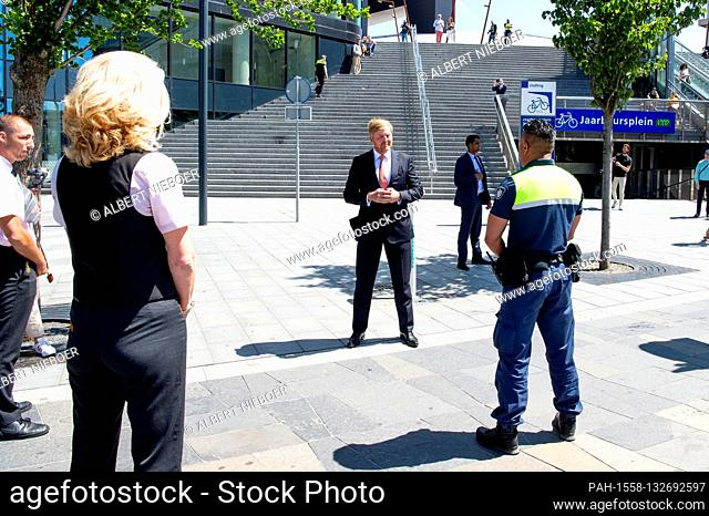 King Willem-Alexander of The Netherlands at the Utrecht Central Station in Utrecht, on May 29, 2020, for a workvisit, it takes place in the context of the...