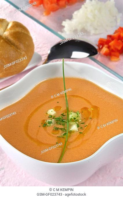 Andalusian Gazpacho cold Spanish tomato soup