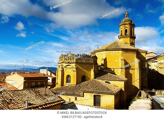 Nuestra Señora de la Asuncion church. Labastida. Rioja Alavesa. Alava, Basque Country, Spain, Europe