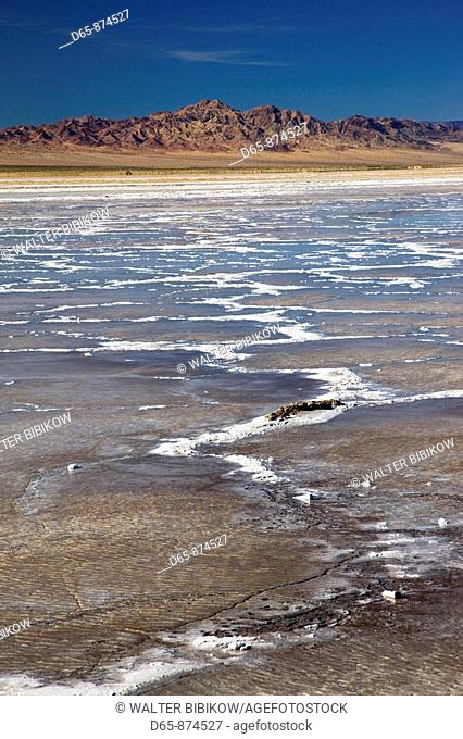 Salt flats, Bristol Dry Lake, Mojave Desert, Amboy, California, USA