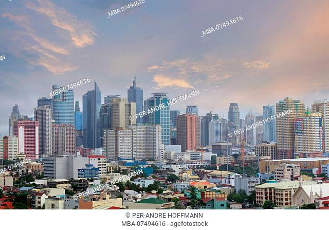 Skyline of Makati City, Manila, Luzon Island, Philippines
