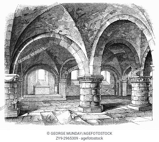 (King) Edward the Confessor's Chapel in Westminster Abbey. His death in 1065 heralded the end of the Aglo-Saxon era in England