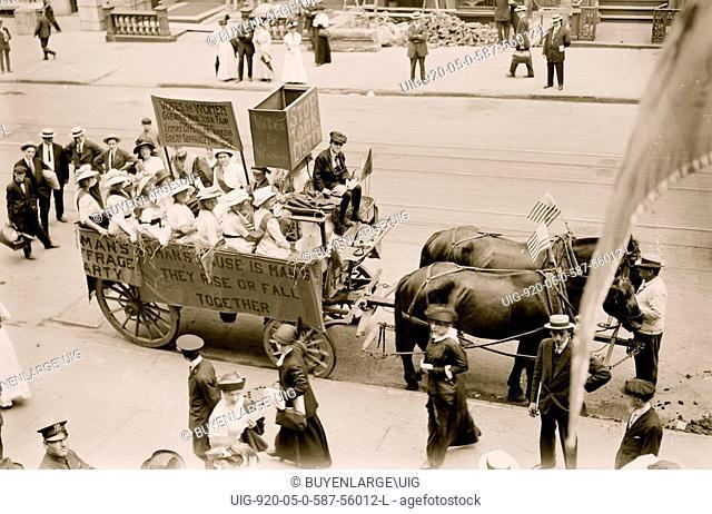 Suffrage Hay Wagon 1914