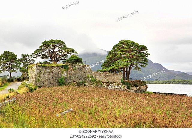 Ruins of an ancient fortress on Lough Leane Lower Lake