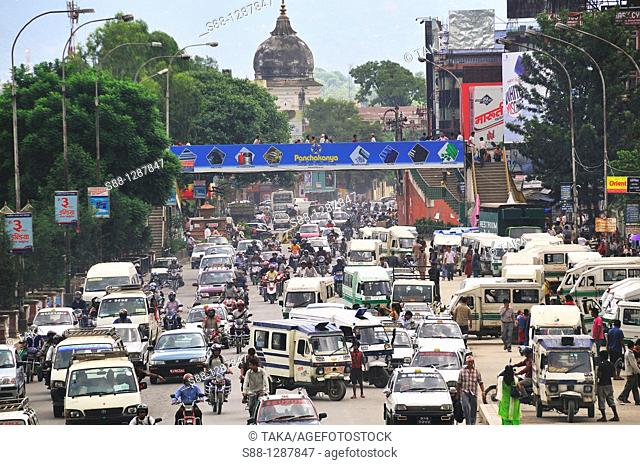 Heavy traffic at Kantipath Road