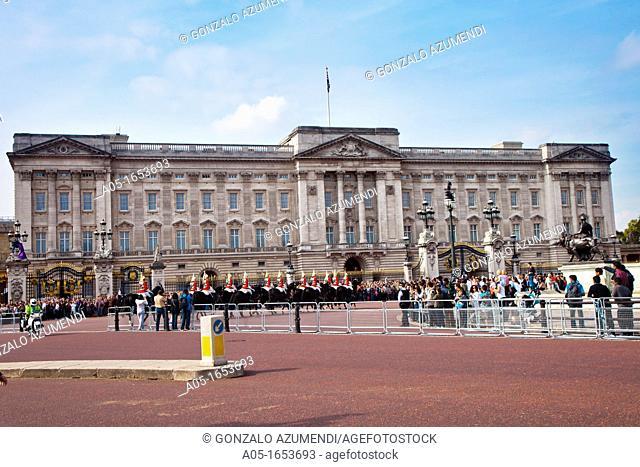 Change of guards, Buckingham Palace, London, England, United Kingdom