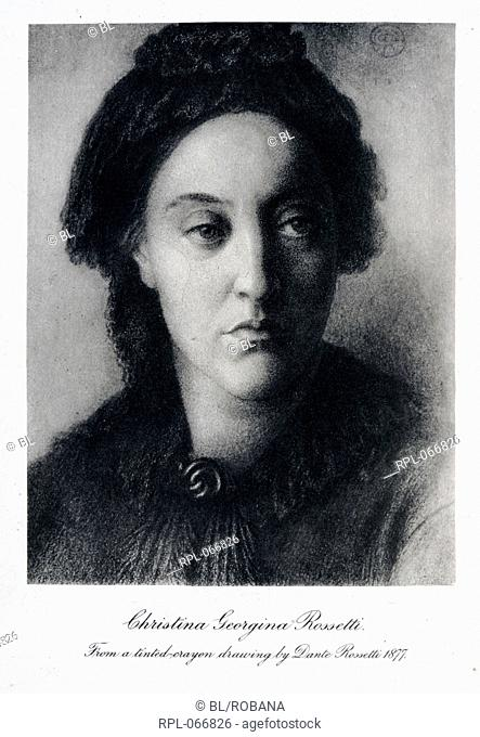 Christina Georgina Rossetti 1830-1894. English poet. Portrait. Image taken from Letters Translated by Mary J. Serrano With portraits