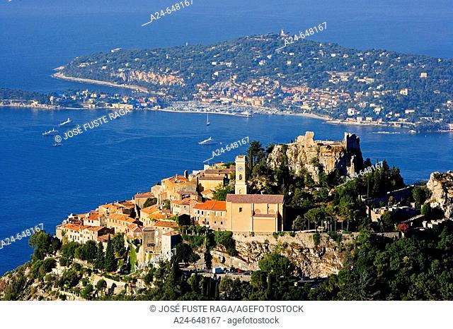France. July 2007. Blue Coast. Eze and Cap Ferrat