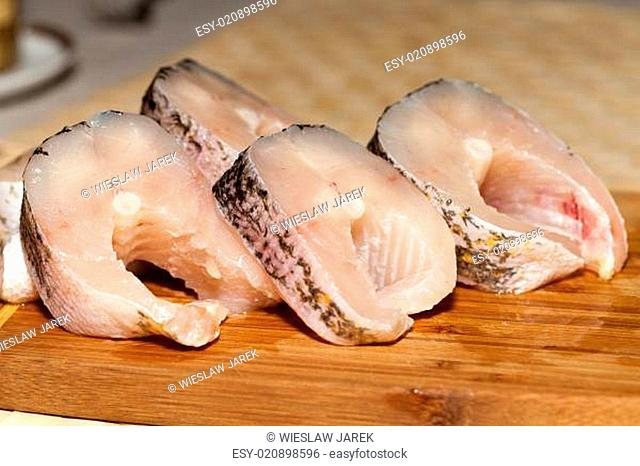 Piece of fresh raw fish