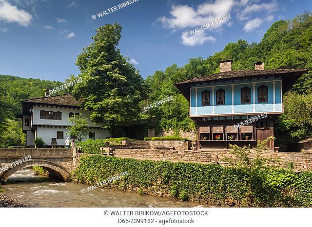 Bulgaria, Central Mountains, Etar, Etar Ethnographic Village, traditional Ottoman-era houses