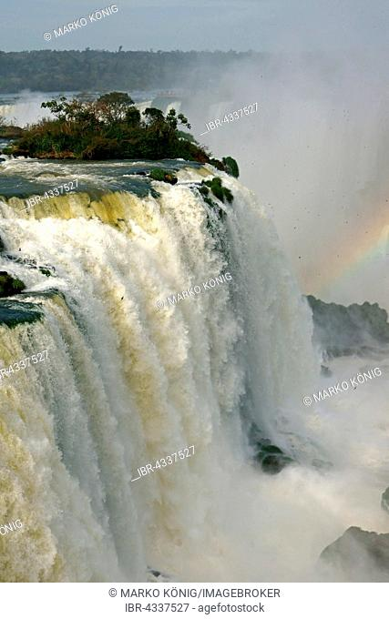 Rainbow at Iguazu Falls, Paraná, Brazil
