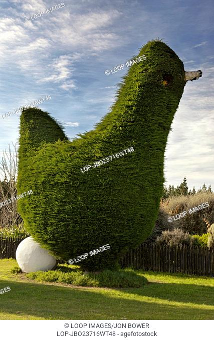 A quirky bit of advanced topiary outside the town of Cromwell in Central Otago in South Island