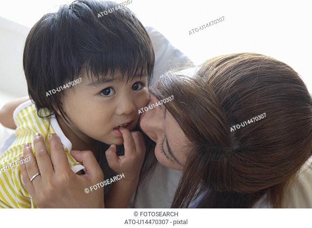 A young mother with a child