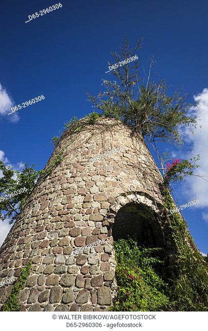 St. Kitts and Nevis, Nevis, Hamilton, Hamilton Estate Ruins, old sugar plantation