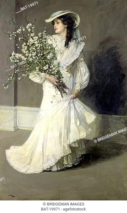 Spring (oil on canvas), Lavery, Sir John (1856-1941) / Musee d'Orsay, Paris, France / Bridgeman Images