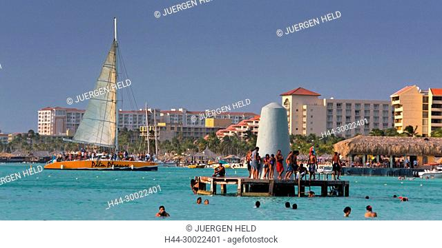 Aruba, Palm Beach, West Indies, Dutch Carribean, Central America , Palm Pleasure Catamaran