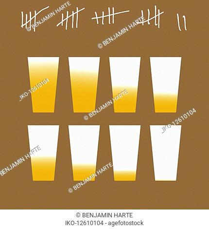 Tally chart for giving up drinking