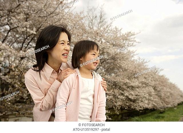 View of a mother and daughter smiling