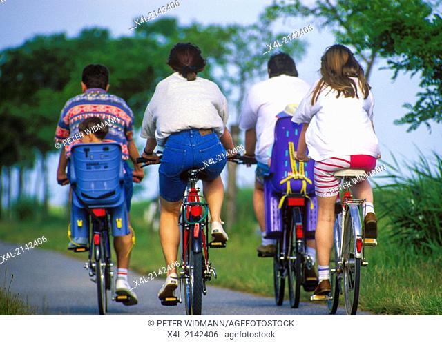 bikers, Austria, Burgenland, Neusiedlersee Seewinkel