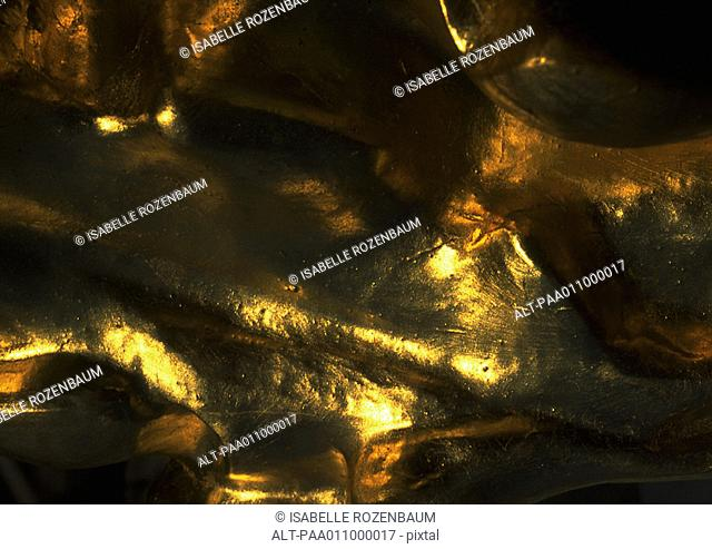 Gilded surface, close-up