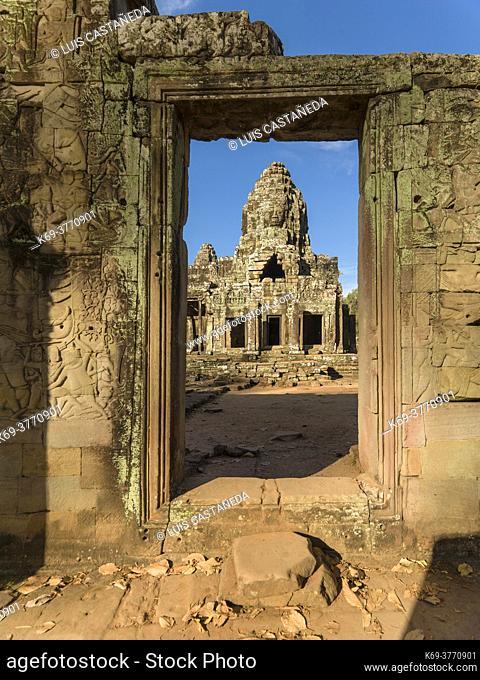 Tower at The Bayon. Angkor Thom. Siem Reap. Cambodia