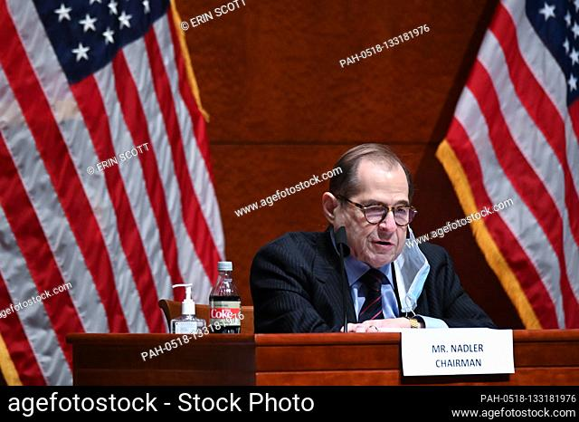United States Representative Jerrold Nadler (Democrat of New York), Chairman, US House Judiciary Committee, makes opening statements during a markup on H
