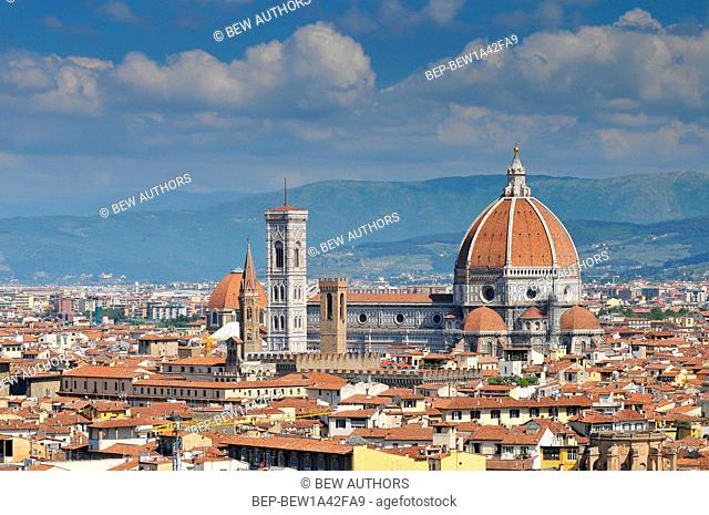 Florence panorama with Saint Mary of the Flower Cathedral