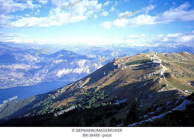 Funicular Monte Baldo Malcesine lake Garda Veneto - Italy