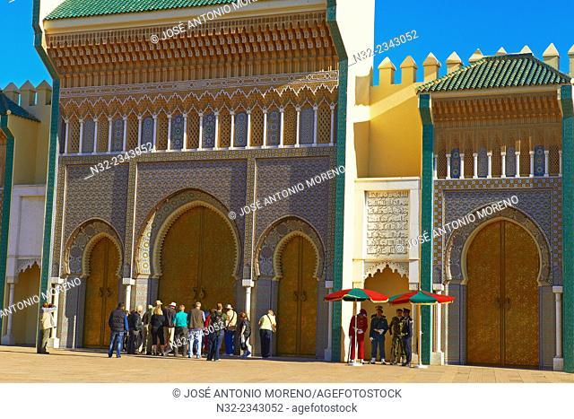 Fez, Royal Palace, Dar al Makhzen, Fez el Jedid, Fes, Morocco, Maghreb, North Africa