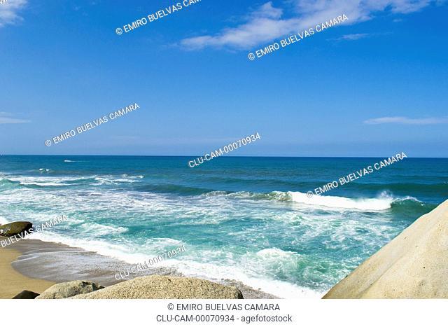 Reef Beach, Tayrona National Park, Santa Marta, Magdalena, Colombia